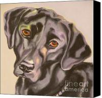 Mutt Canvas Prints - Black Lab Aint No Cure For Love Canvas Print by Susan A Becker