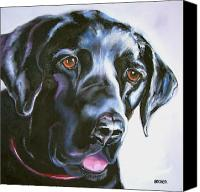 Mutt Canvas Prints - Black Lab No Ordinary Love Canvas Print by Susan A Becker