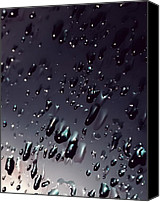 Blacks Canvas Prints - Black Rain Canvas Print by Steven Milner