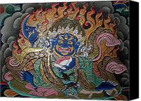 Tibetan Buddhism Canvas Prints - Black Robe Diamond 3 Canvas Print by Lanjee Chee