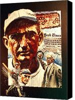 Baseball Painting Canvas Prints - Black Sox Canvas Print by Ken Meyer jr