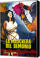 1960s Poster Art Canvas Prints - Black Sunday, Aka La Maschera Del Canvas Print by Everett