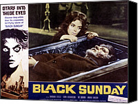 Horror Fantasy Movies Canvas Prints - Black Sunday, Barbara Steele, 1961 Canvas Print by Everett