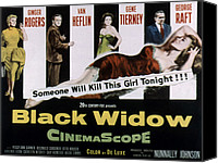 Fid Canvas Prints - Black Widow, Ginger Rogers, Van Heflin Canvas Print by Everett