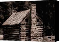 Old Cabins Canvas Prints - Blackberry Holler Cabin Canvas Print by Kris Napier