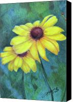 Susan Drawings Canvas Prints - Blackeyed Susan Canvas Print by Beverly Fuqua