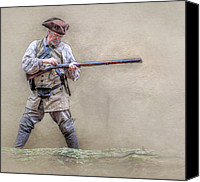 Rangers Canvas Prints - Blackpowder Woodsman Version Two Canvas Print by Randy Steele