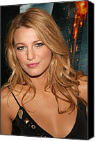 Lip Gloss Canvas Prints - Blake Lively At Arrivals For The Dark Canvas Print by Everett