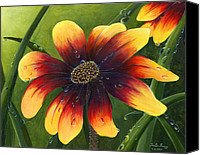 Trister Hosang Canvas Prints - Blanket Flower Canvas Print by Trister Hosang