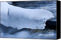 Alberta Landscape Canvas Prints - Blanket Of Ice Canvas Print by Bob Christopher