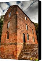 Pig Photo Canvas Prints - Blast Furnaces 1830s Canvas Print by Adrian Evans