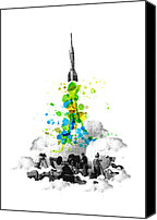 Photo Digital Art Canvas Prints - Blast Off Canvas Print by Budi Satria Kwan