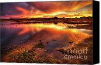 Mud Canvas Prints - Blazing Sky Canvas Print by Carlos Caetano