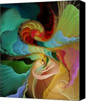 Apophysis Pastels Canvas Prints - Blending into Our Souls Canvas Print by Gayle Odsather