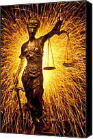 Brass Canvas Prints - Blind Justice  Canvas Print by Garry Gay