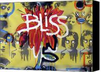 Neo Expressionism Canvas Prints - Bliss Is The Word Canvas Print by Robert Wolverton Jr