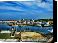 Photographs Canvas Prints - Block Island Marina Canvas Print by Lourry Legarde