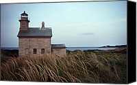 Lighthouses Canvas Prints - Block Island North West Lighthouse Canvas Print by Skip Willits