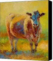 Ranching Canvas Prints - Blondie - Cow Canvas Print by Marion Rose