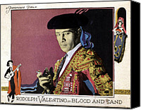 Rudolph Canvas Prints - Blood And Sand, Rudolph Valentino, 1922 Canvas Print by Everett