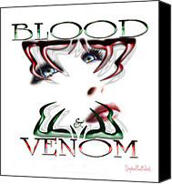 Bad Romance Canvas Prints - Blood and Venom Tattoo Canvas Print by Stephen Paul West