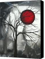 Crimson Canvas Prints - Blood of the Moon 2 by MADART Canvas Print by Megan Duncanson