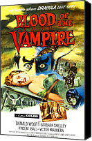 1950s Poster Art Canvas Prints - Blood Of The Vampire, Woman On Table Canvas Print by Everett
