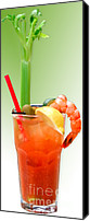Drink Canvas Prints - Bloody Mary Hand-Crafted Canvas Print by Christine Till