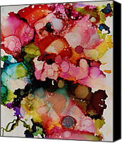 Alcohol Ink Canvas Prints - Bloom Canvas Print by Lynn Callahan