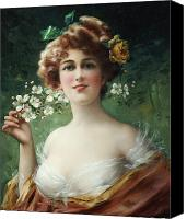 Vernon Canvas Prints - Blossoming Beauty Canvas Print by Emile Vernon