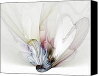 Flowers Digital Art Canvas Prints - Blow Away Canvas Print by Amanda Moore