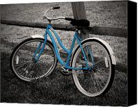 Selective Color Canvas Prints - Blue Bike Canvas Print by Brian Mollenkopf