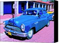 Havana Daydreams Canvas Prints - Blue Buick Canvas Print by Dominic Piperata