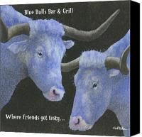 Cow Canvas Prints - Blue Bulls Bar and Grill... Canvas Print by Will Bullas
