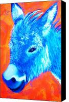 Donkey Pastels Canvas Prints - Blue Burrito Canvas Print by Melinda Etzold