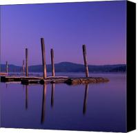 Pilings Canvas Prints - Blue Calm Canvas Print by Idaho Scenic Images Linda Lantzy