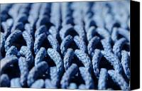 Rope Canvas Prints - Blue Canvas Print by Dan Holm