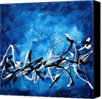 Huge Painting Canvas Prints - Blue Divinity II by MADART Canvas Print by Megan Duncanson
