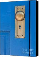 Door Canvas Prints - Blue Door Canvas Print by Dan Holm