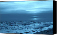 Panama City Beach Photo Canvas Prints - Blue Evening Canvas Print by Sandy Keeton