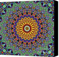 Psychedelic Canvas Prints - Blue Eye Canvas Print by Ron Brown