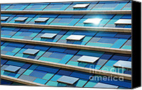 Finance Canvas Prints - Blue Facade Canvas Print by Carlos Caetano