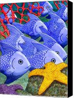 Reef Canvas Prints - Blue Fish Canvas Print by Catherine G McElroy
