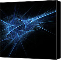 Energetic Canvas Prints - Blue Flame Canvas Print by Scott Norris