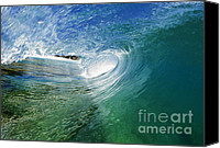 Beach Canvas Prints - Blue Glass Canvas Print by Paul Topp