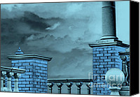 Balusters Canvas Prints - Blue Heavens Canvas Print by Dianne Liukkonen