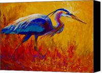 Herons Canvas Prints - Blue Heron Canvas Print by Marion Rose