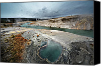 Idaho Canvas Prints - Blue Hole Canvas Print by KH Graphic