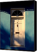 The White House Canvas Prints - Blue House Door Canvas Print by Susanne Van Hulst