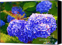 2hivelys Art Canvas Prints - Blue Hydrangea Canvas Print by Methune Hively